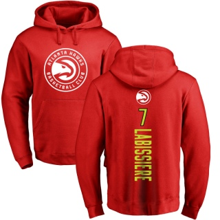 Men's Skal Labissiere Atlanta Hawks Red Backer Pullover Hoodie